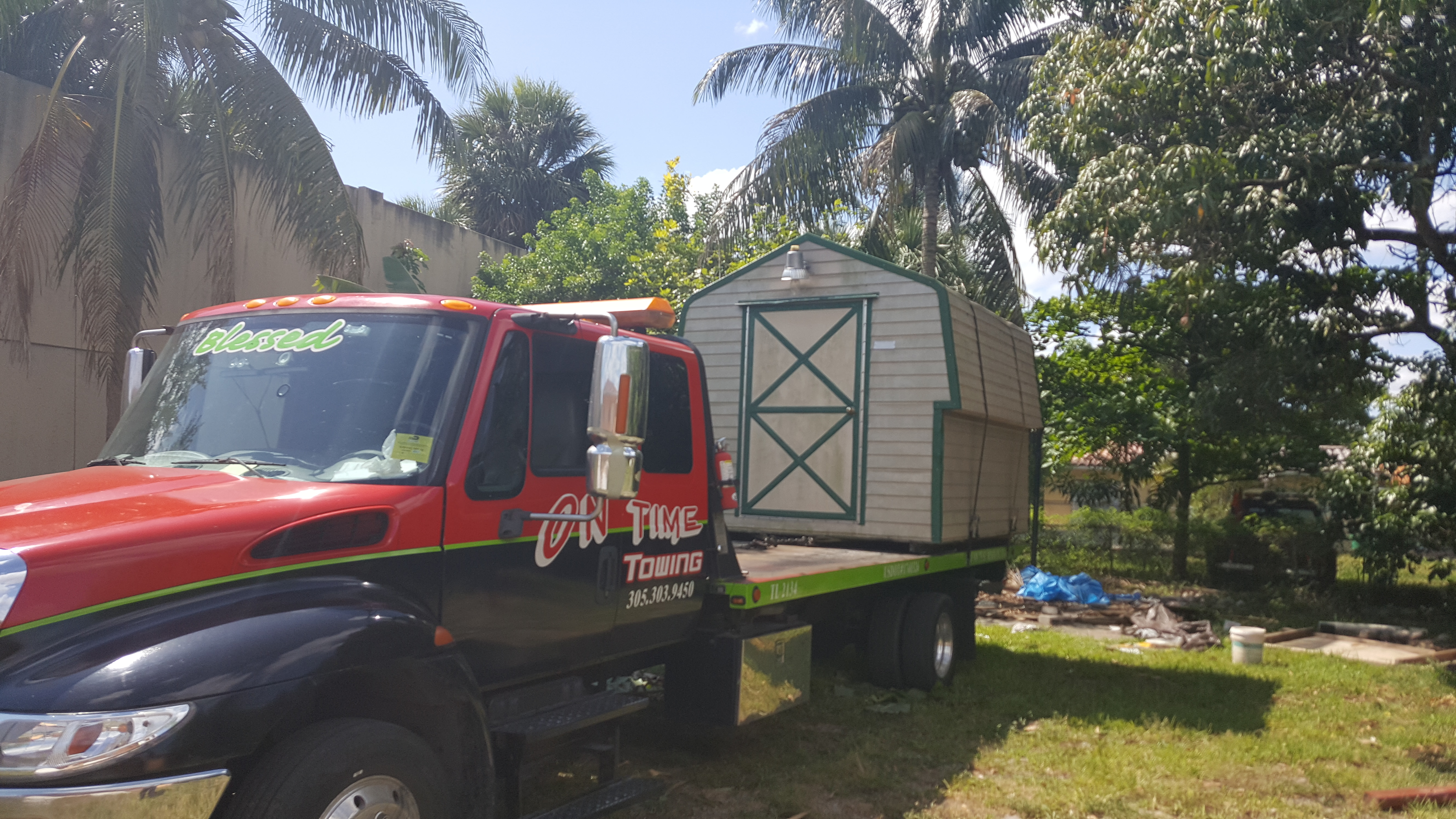 on time towing miami florida fl. Black Bedroom Furniture Sets. Home Design Ideas