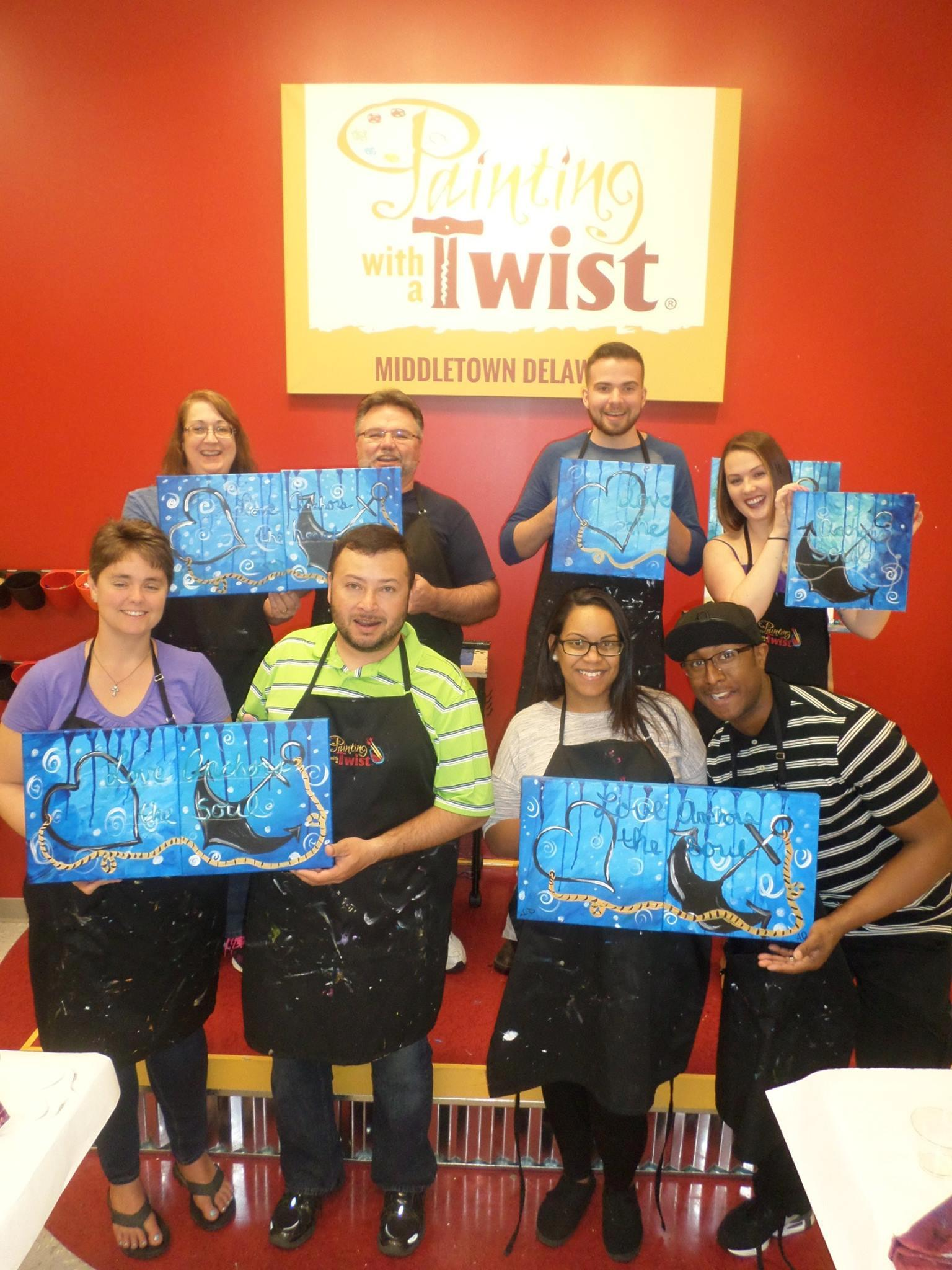 painting with a twist in middletown de 19709