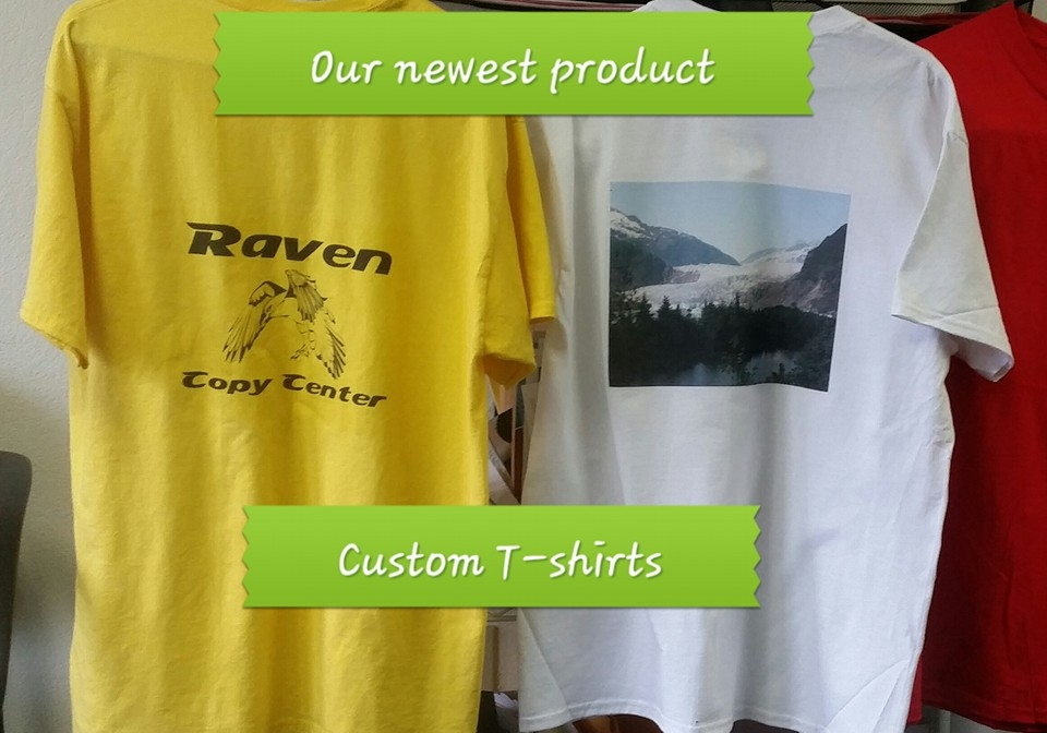 Raven copy center llc kent washington wa for Kinkos t shirt printing