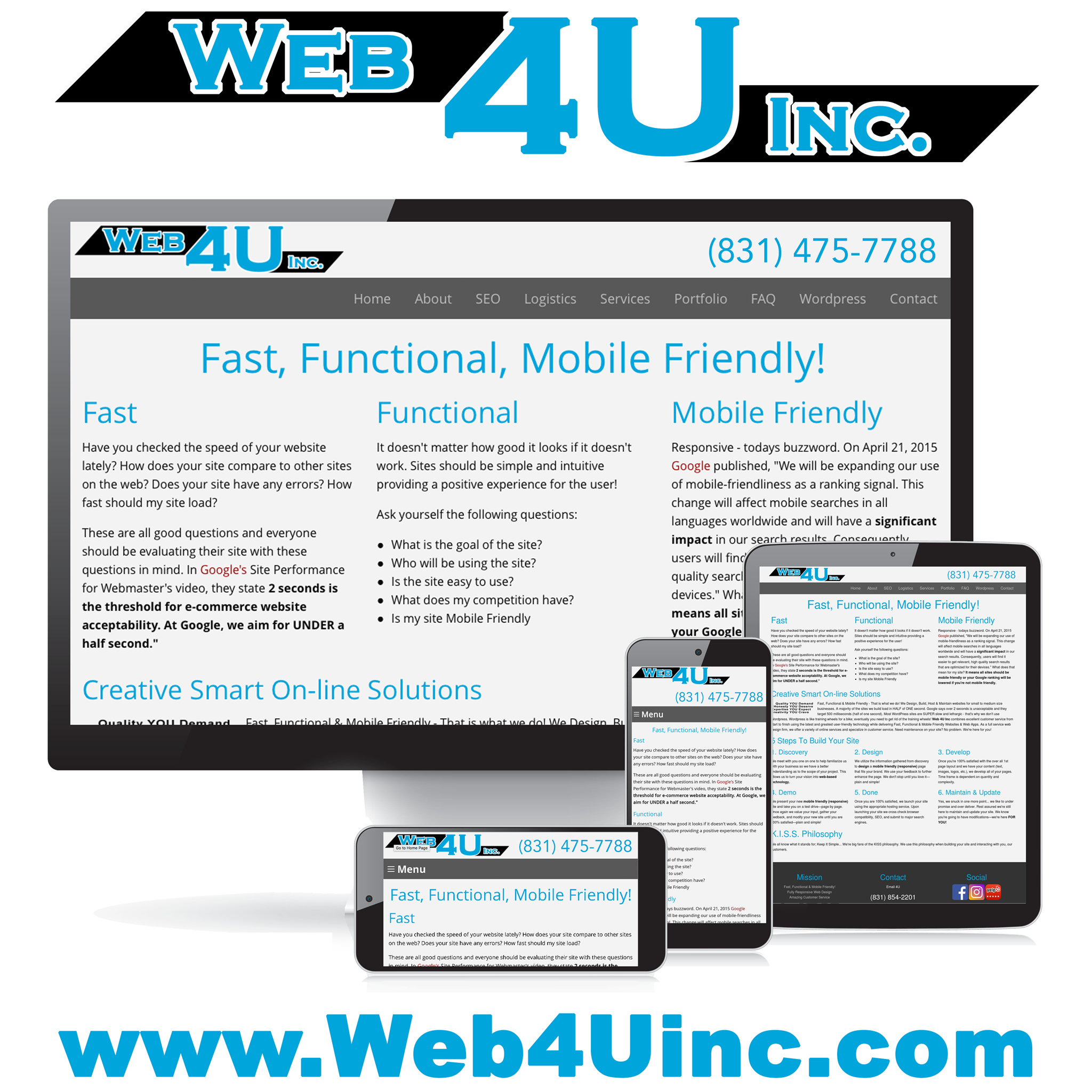 Web 4U Inc - Capitola, CA - Website Design Services