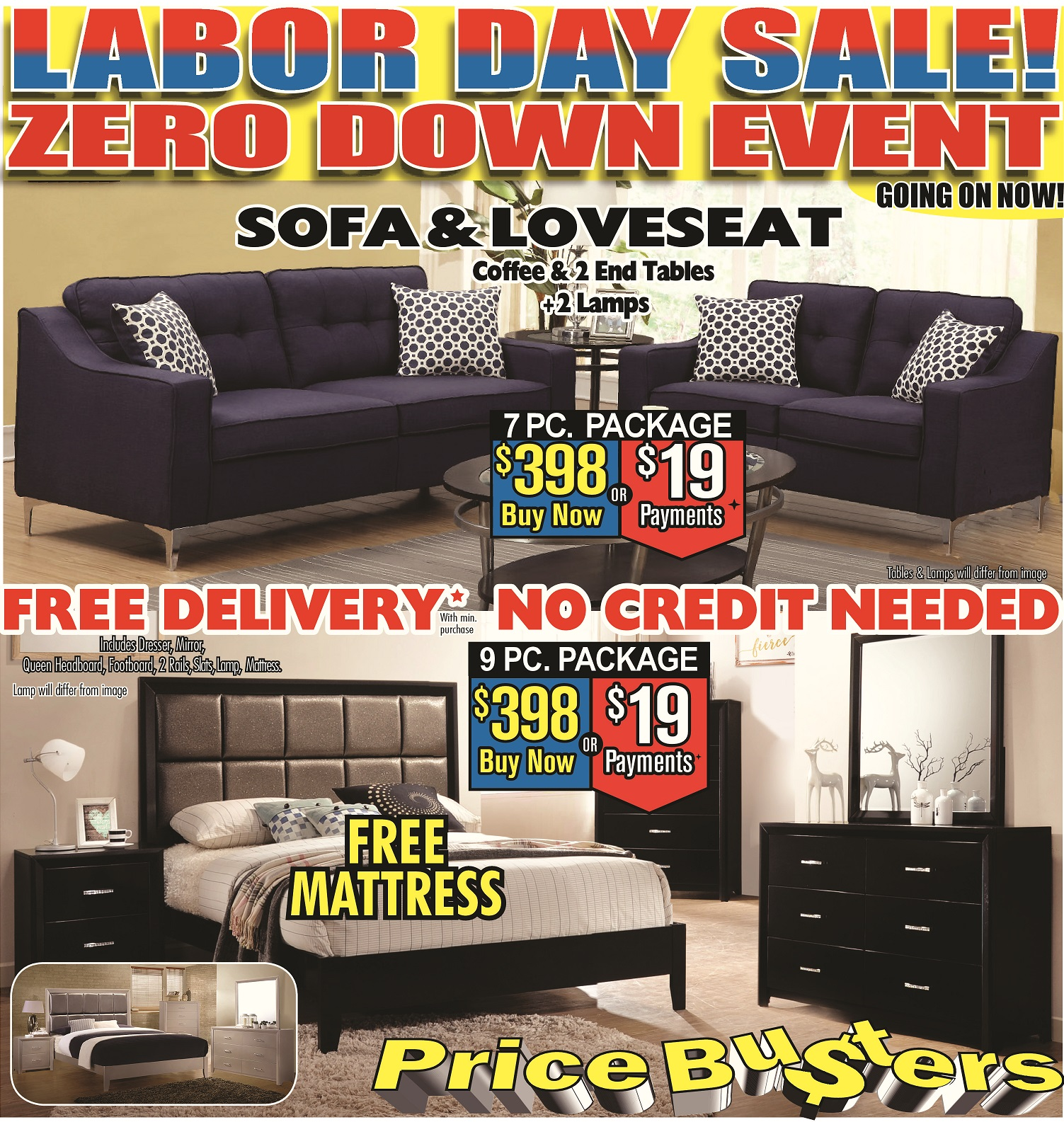 Furniture Stores Prices: Price Busters Discount Furniture, Essex Maryland (MD