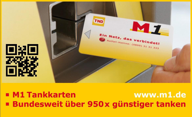 Mit der M1 Tankkarte tanken Firmen und Privatkunden immer günstig, bundesweit an über 950 Tankstellen.