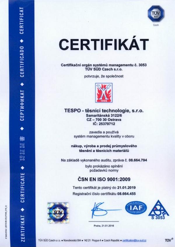 TESPO Ostrava - těsnící a izolační materiály