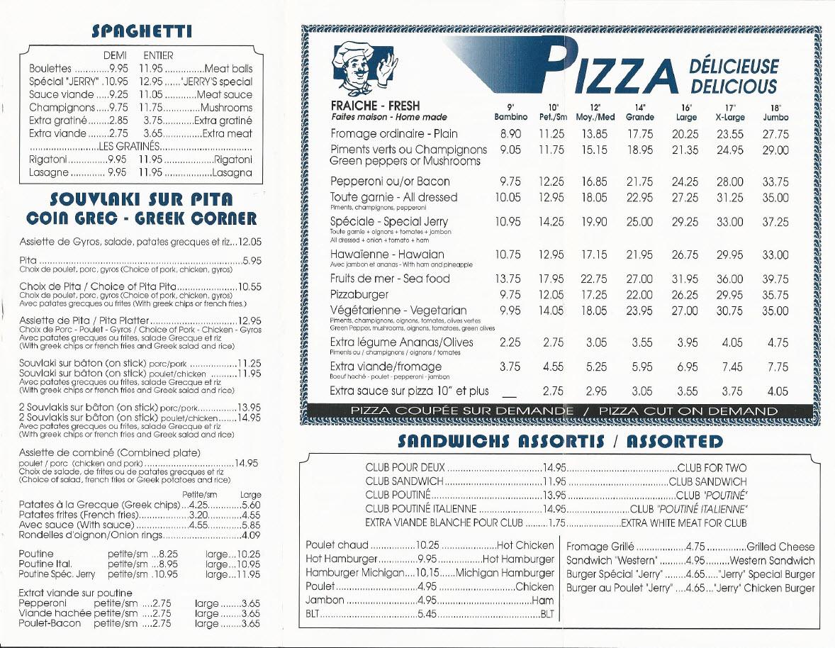 Jerry's Pizzéria Inc à Sherbrooke