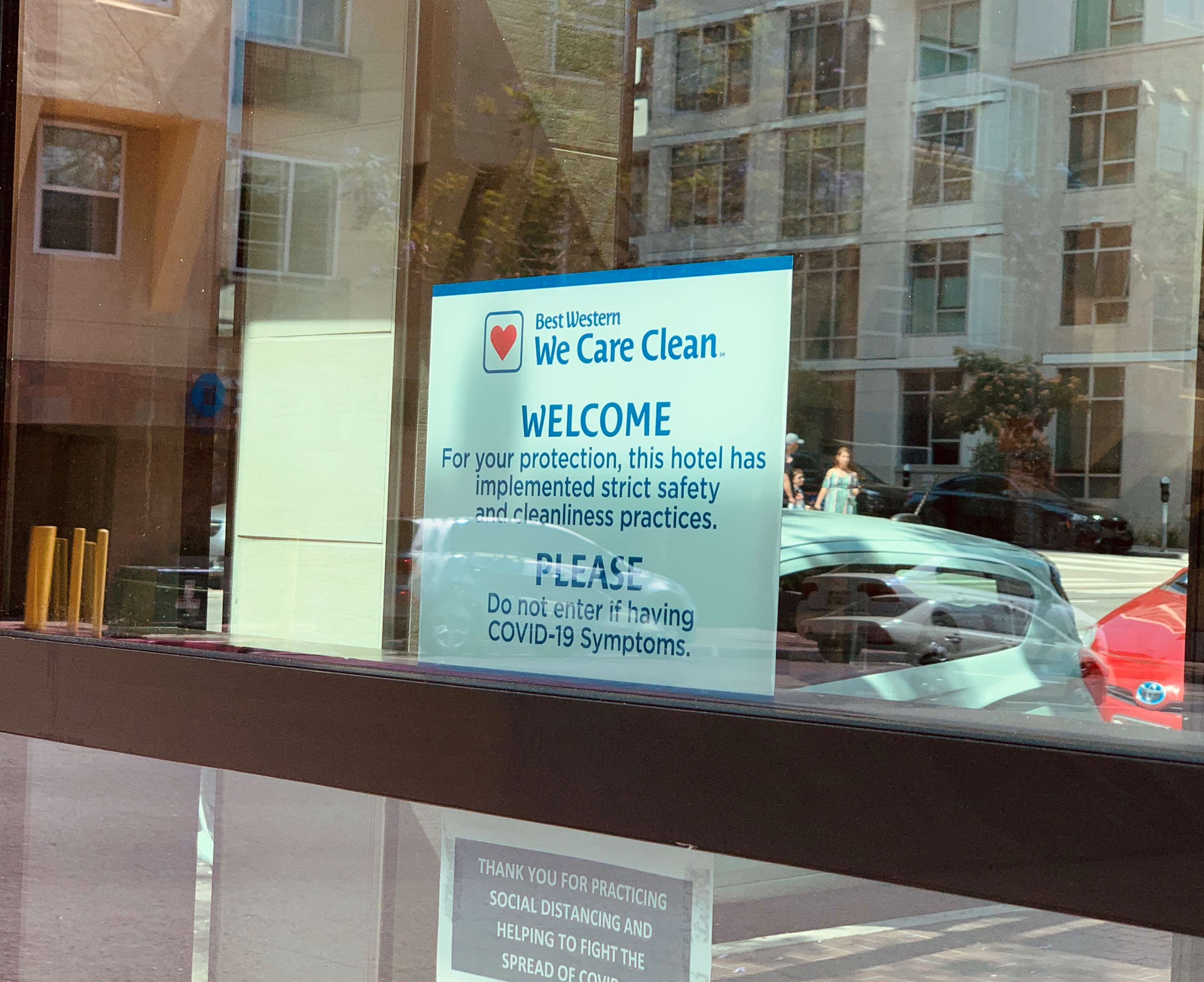 WE CARE CLEAN decal