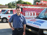 Bell Brothers Heating and Air Conditioning service technician