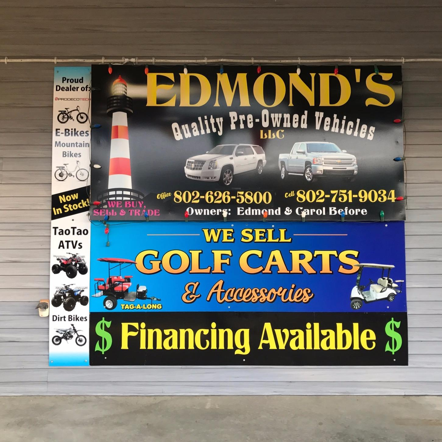 edmond 39 s quality pre owned vehicles llc coupons near me in lyndonville 8coupons. Black Bedroom Furniture Sets. Home Design Ideas