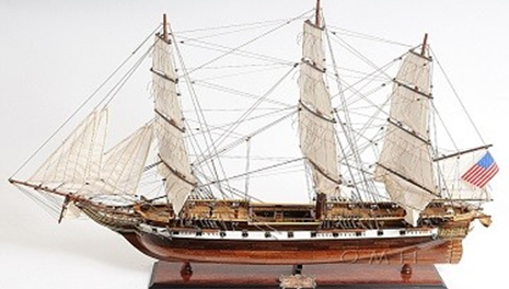 """This is a museum-quality, FULLY ASSEMBLED extra large replica of the U.S.S. Constellation, the last sail-only warship designed and built by the U.S. Navy. This is an """"Exclusive Edition"""" where the model has a unique serial number etched into the hull, which allows us to identify production date, material used and all other production information of a model."""