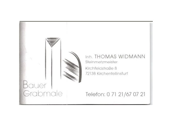 Bauer Grabmale, Inh. Thomas Widmann