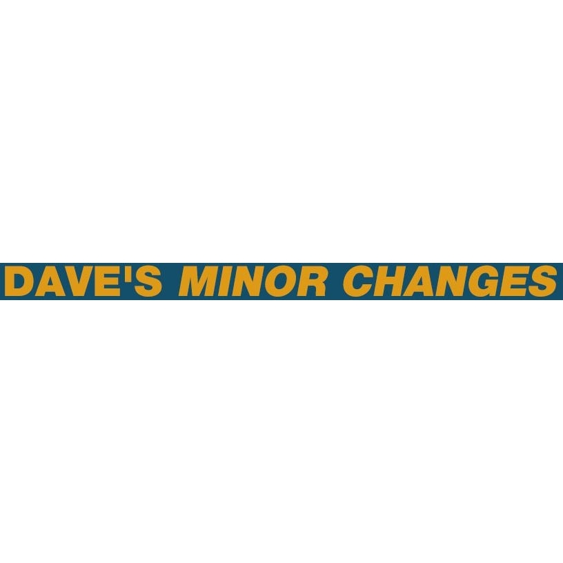 Dave's Minor Changes