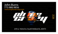 Business card design for Phone Crazy