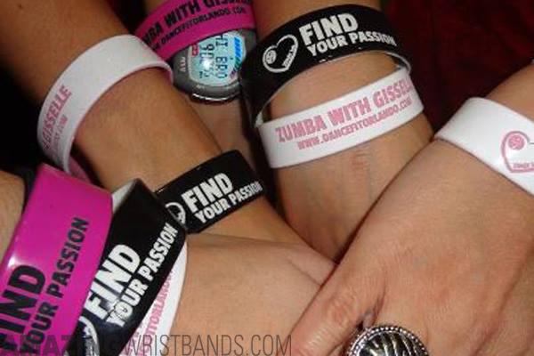 silicone wristband types