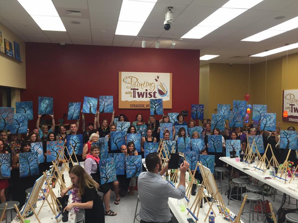 Painting with a twist syracuse new york ny for Michaels crafts syracuse ny