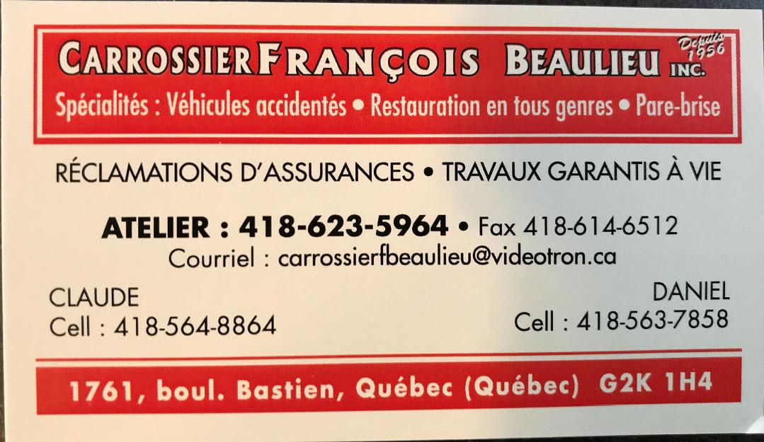 Carrossier François Beaulieu Inc à Québec