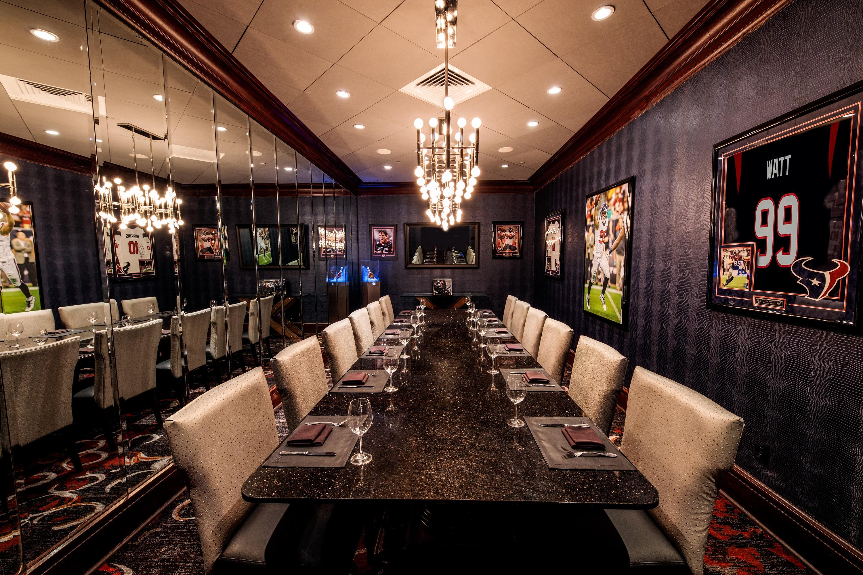 Del Frisco's Double Eagle Steakhouse Houston The Texans Room private dining room