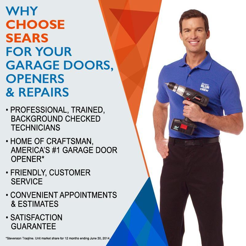 Sears garage door installation and repair las vegas for Sears garage door repair reviews