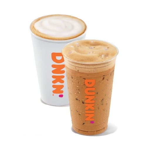 Dunkin' Hot Cappuccino and Iced Cappuccino