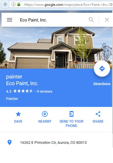 Eco Paint Inc Centennial Colorado Co