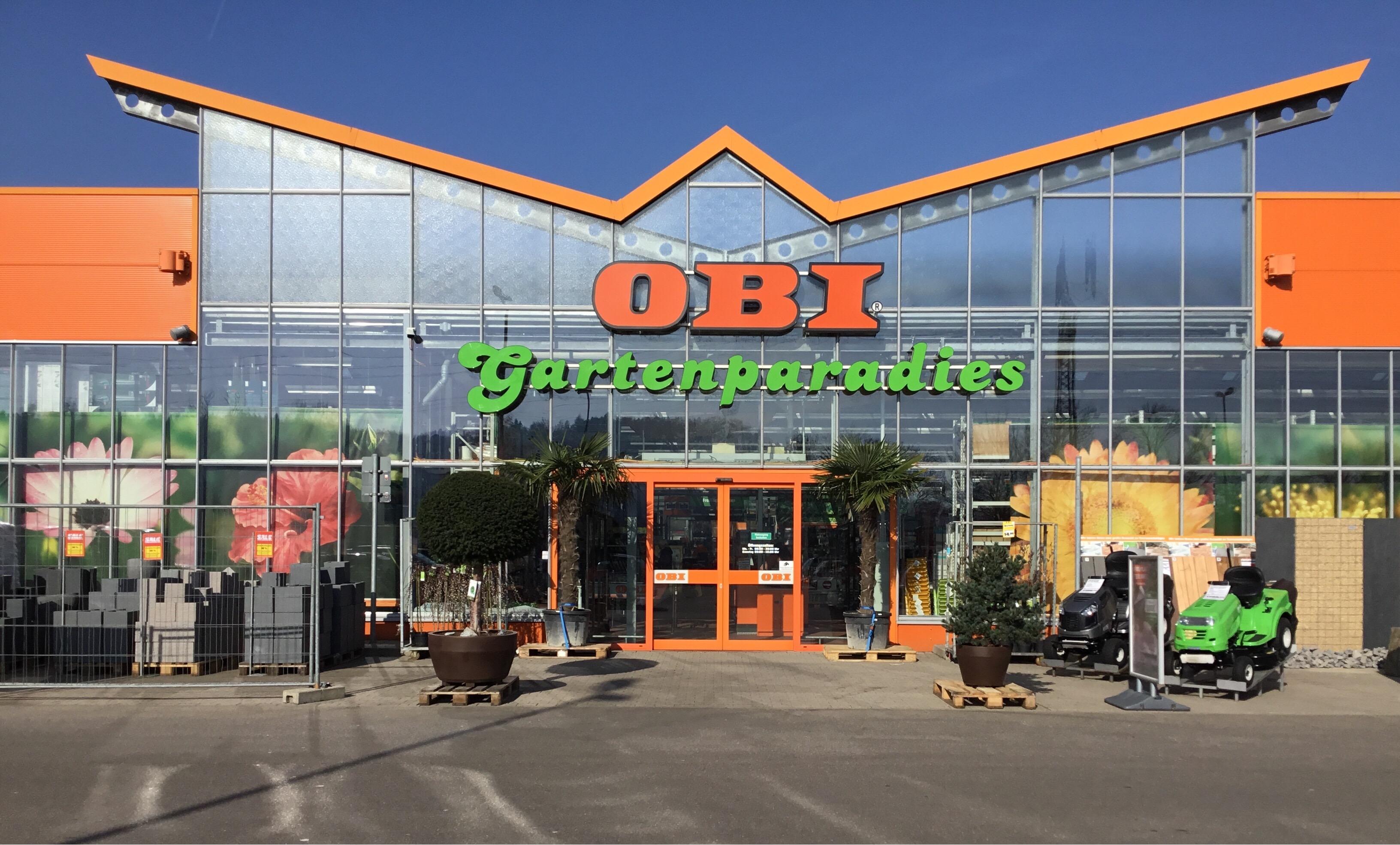 Garteneingangsbereich OBI Markt Waldshut-Tiengen