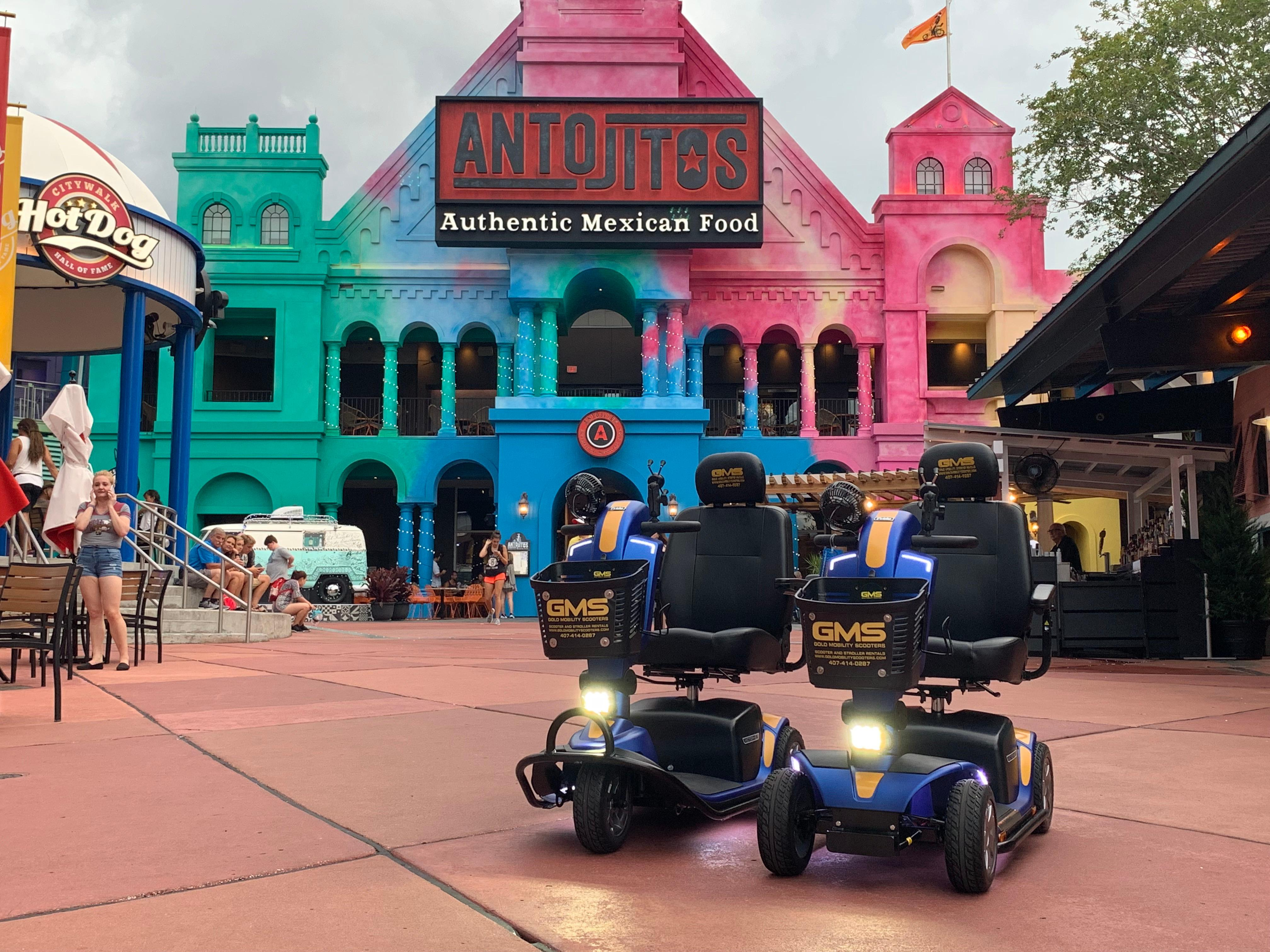 Theme park approved scooter rentals for Orlando Florida and the theme parks by Gold Mobility Scooters. We sell and rent top of the line Pride Mobility Scooters in our rent a scooter line. Theme Parks and Orlando Florida Area scooter rentals. Best rental Prices, Premium brand new scooters for rent, Free Delivery and Pickup, Free Damage Waver, Free Accessories, and Custom upgrades. 5 star rated scooter rental company. Scooter Rental info at https://goldmobilityscooters.com or Call us at 407-414-0287
