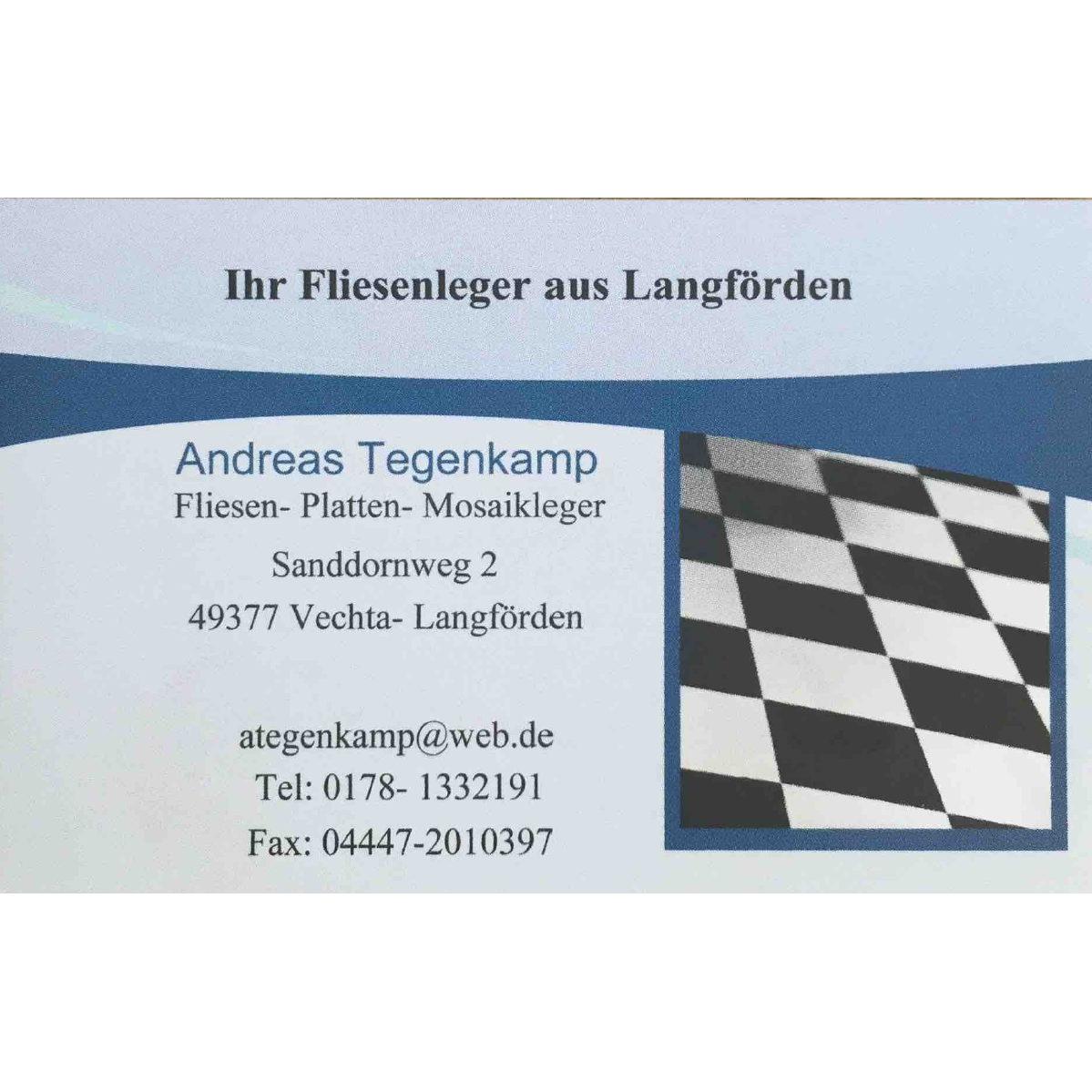 Bild zu Andreas Tegenkamp - Fliesen·Platten·Badsanierung in Vechta