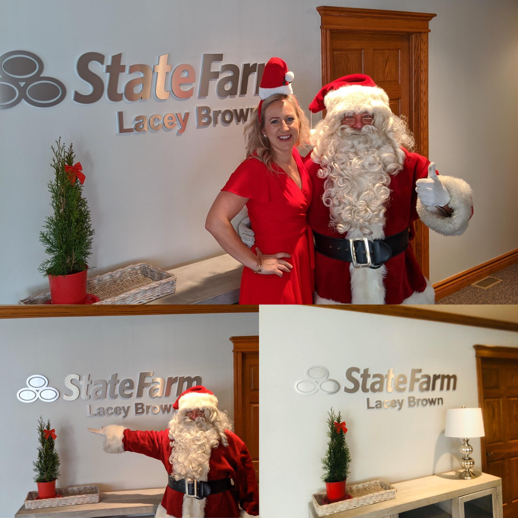 Getting in the Christmas Spirit with Santa Claus Lacey Brown - State Farm Insurance Agent Ralston (402)779-8338