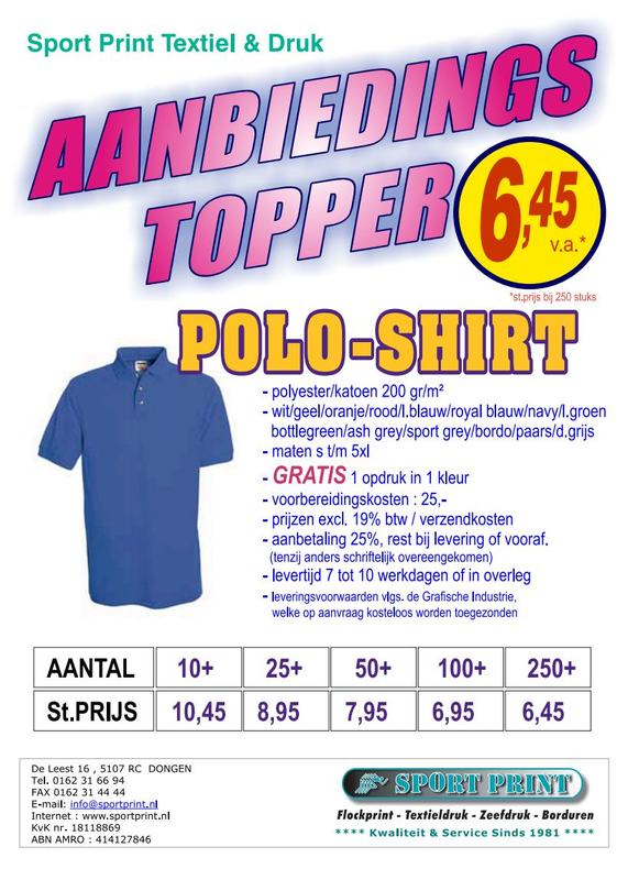 Sport Print Textieldrukkerij Zeefdrukkerij