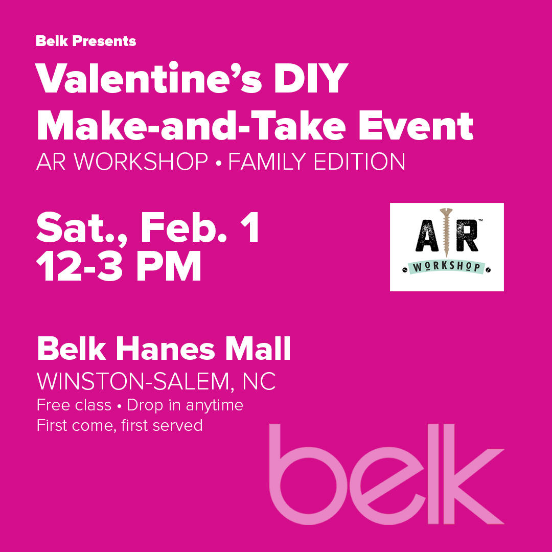 Valentine's Day Make-and-Take Event with AR Workshop