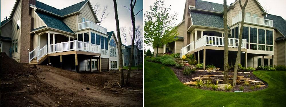 Countywide landscape west chester pennsylvania pa - Garden design before and after ...