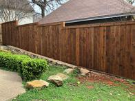 Cedar natural fence for Austin homeowners