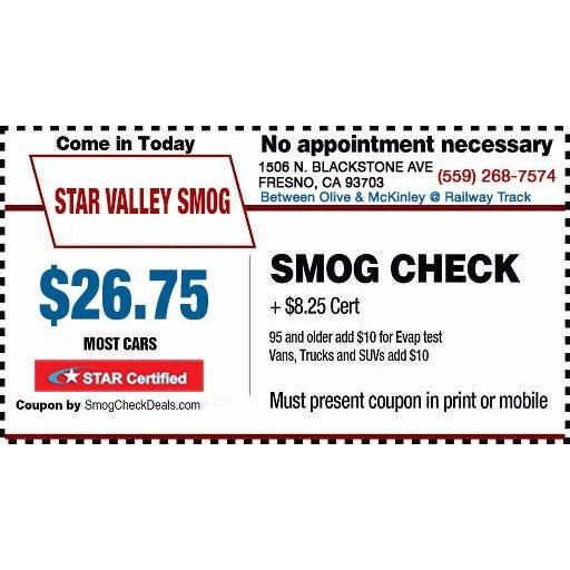 Star Valley Smog - Fresno, CA 93703 - (559)268-7574 | ShowMeLocal.com