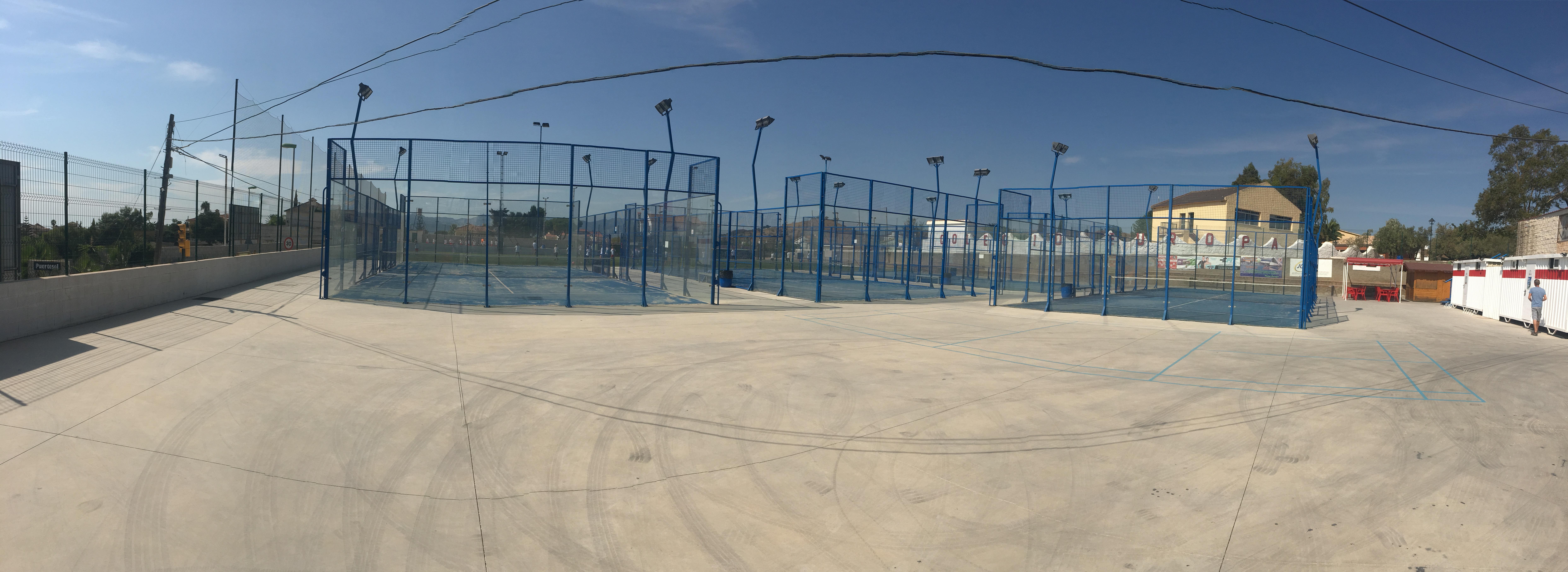 Pistas de Padel, Tenis y Fútbol 7 Colegio Europa