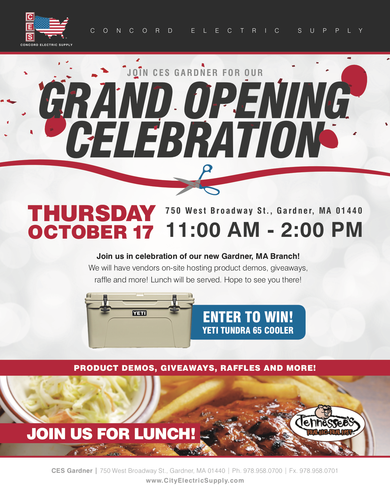 Grand Opening Celebration - CES Gardner, MA