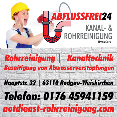 Bild zu Abflussfrei24 Kanal- und Rohrreinigung in Rodgau