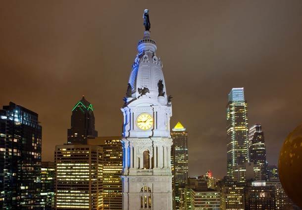 Center City Philadelphia Hotel - Residence Inn by Marriott Philadelphia Center City Area Attractions - City of Philadelphia Skyline