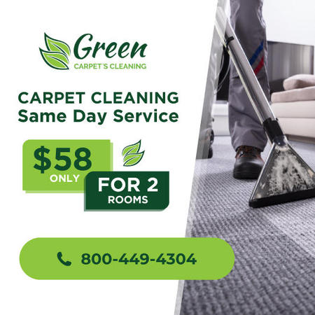 Carpet Cleaning Same Day Service - Green Carpet's Cleaning