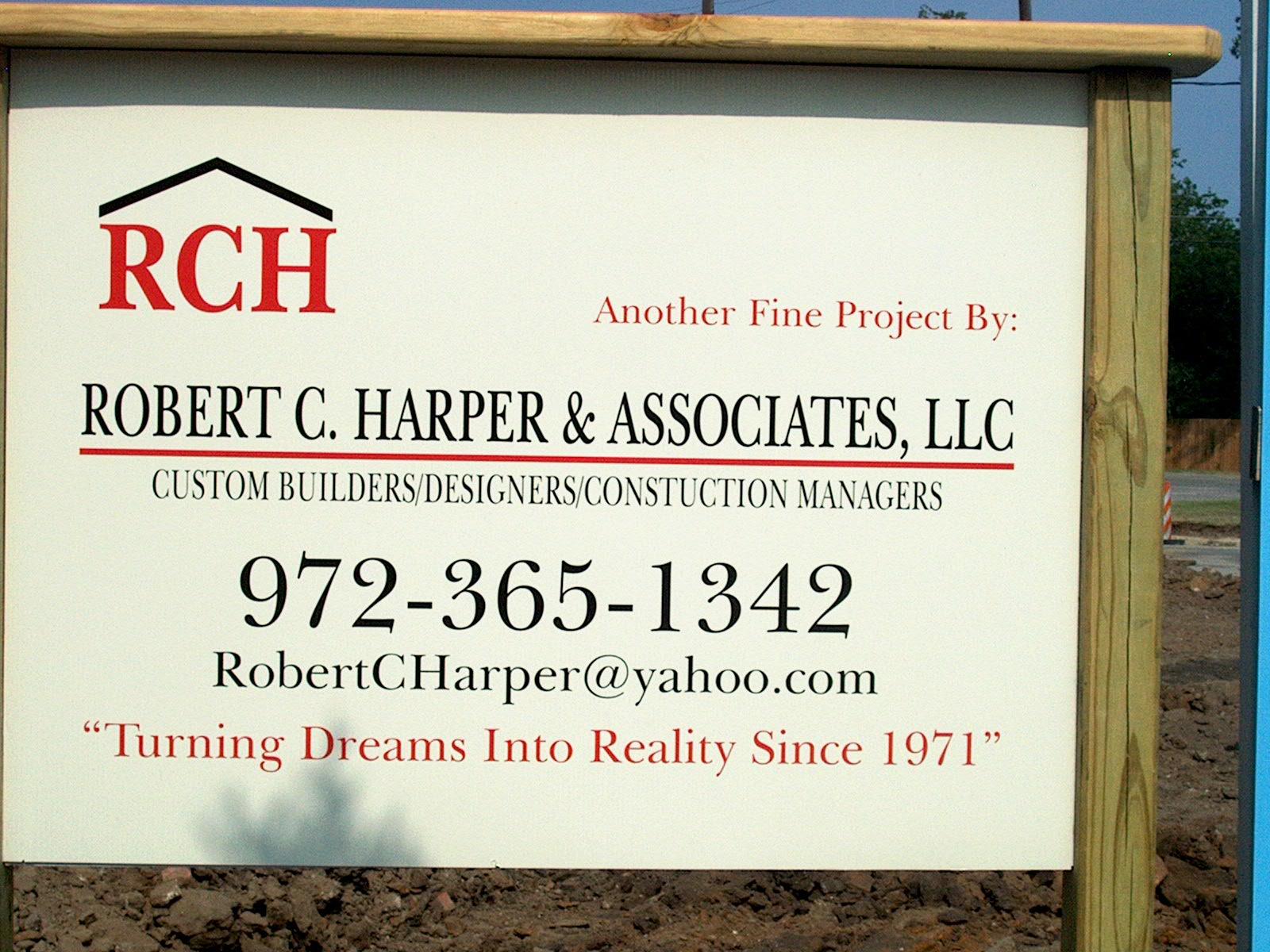 ROBERT C. HARPER & ASSOCIATES CUSTOM BUILDING & REMODELING