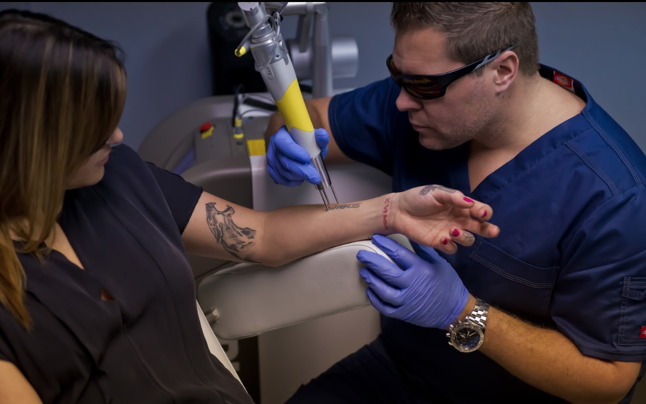 Ink blasters precision laser tattoo removal detroit in for Dallas tattoo removal clinic reviews