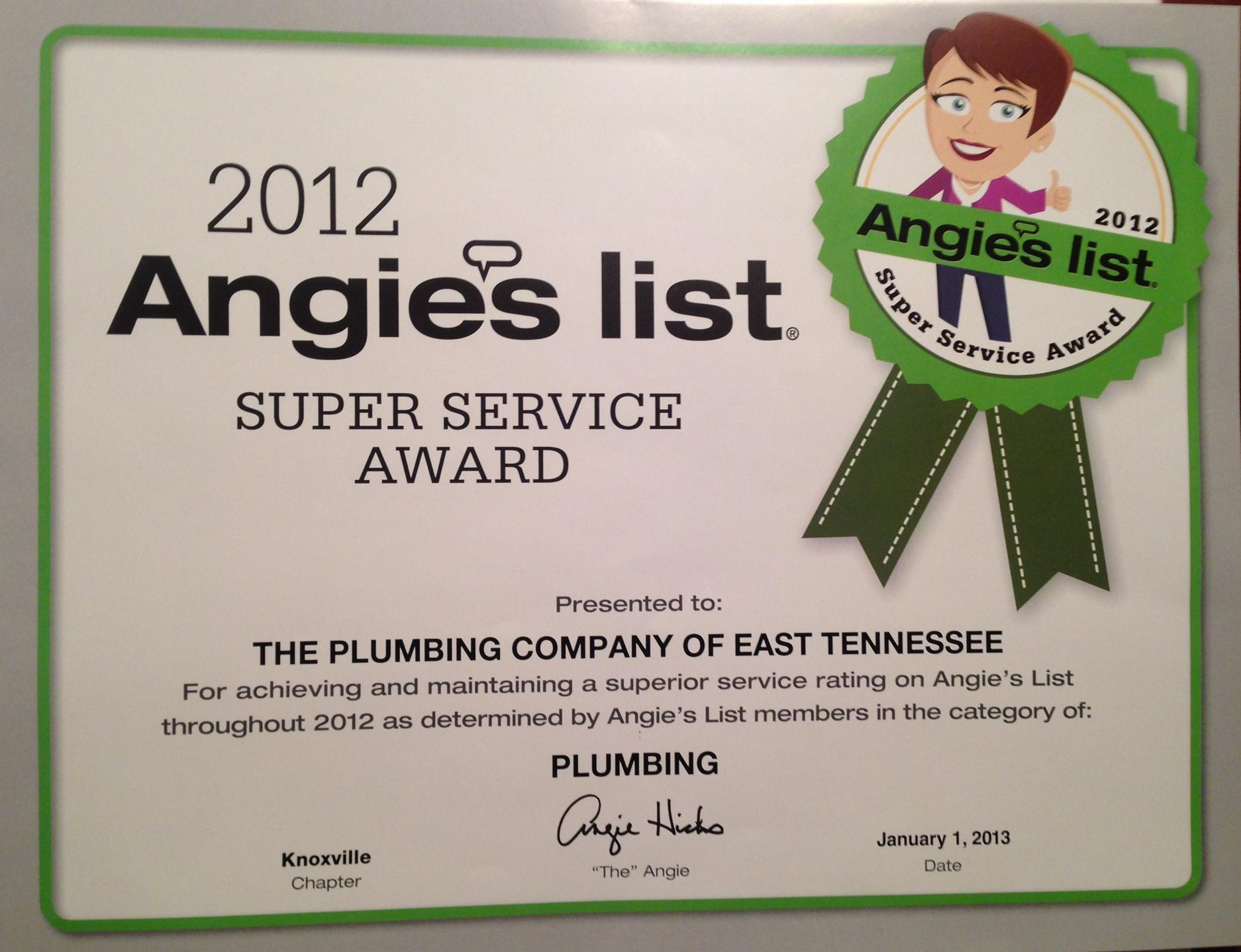 Plumbing Company the of East Tennessee