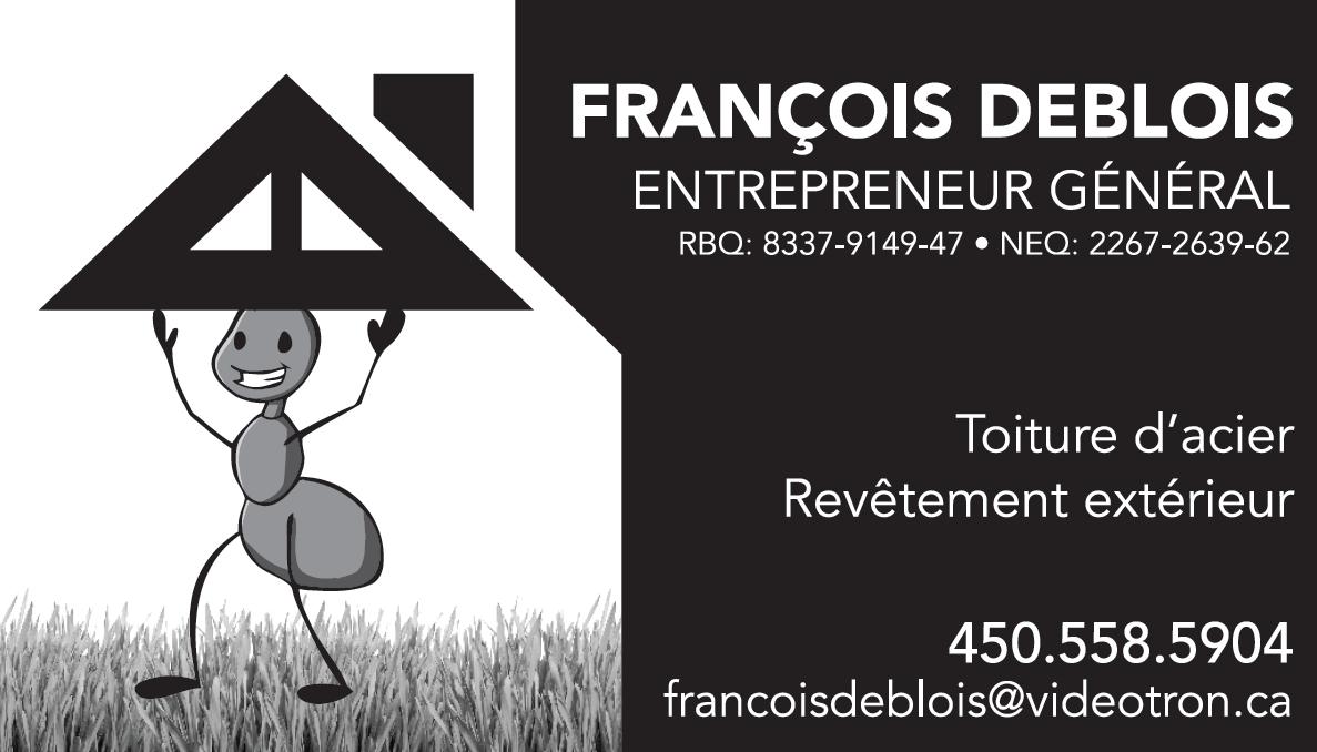 Francois Deblois Enr - Cowansville, QC J2K 3X4 - (450)558-5904   ShowMeLocal.com