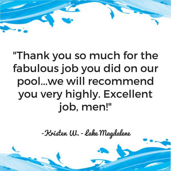 Bay Area Pool Service Customer Testimonial