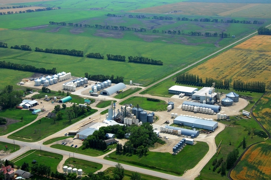 Aerial View. AGT Foods- St Joseph St. Joseph (204)737-2625