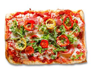 Italian Deluxe Pizza made by P.ZA Kitchen.