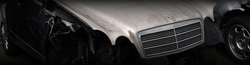 Mercedes Demontage van Schoten