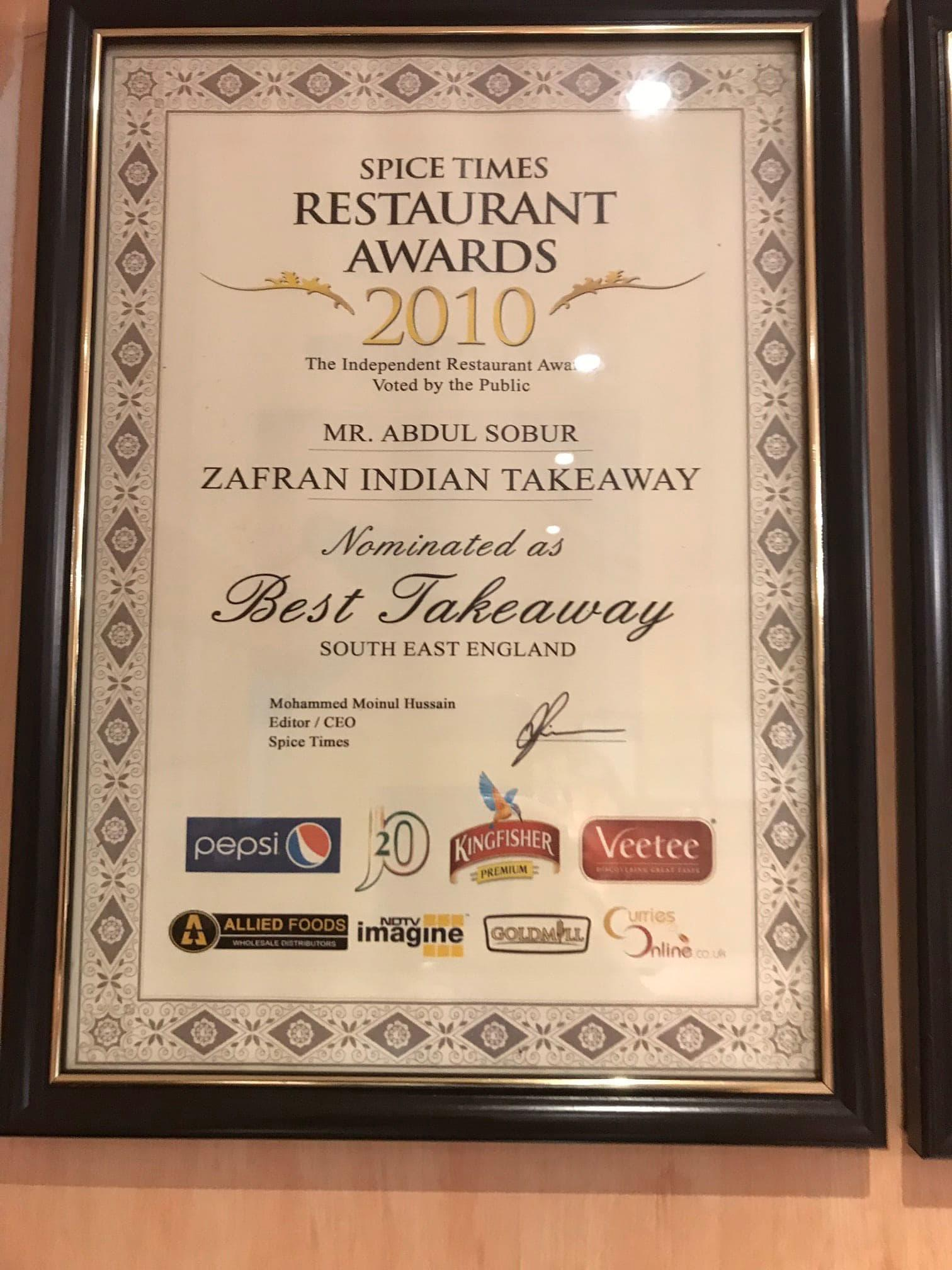 Zafran Indian Takeaway