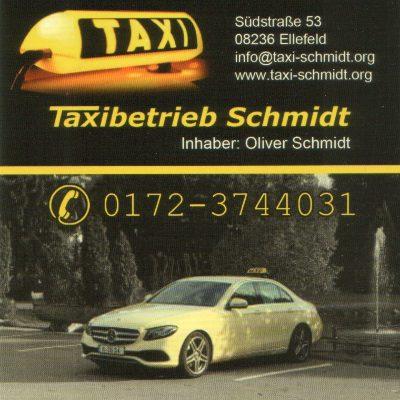 Bild zu Taxibetrieb Schmidt in Ellefeld