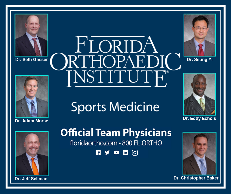 Florida Orthopaedic Institute Sports Medicine Physicians, Including Dr. Gasser
