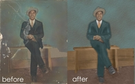 Photo restoration for downtown Chicago client