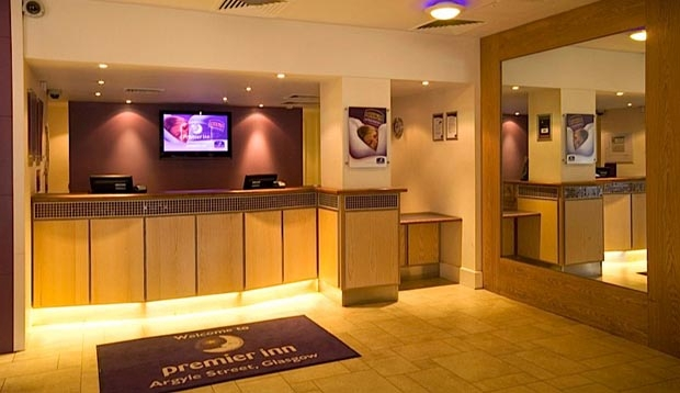 Premier Inn Glasgow City Centre Argyle Street Glasgow 08715 278436