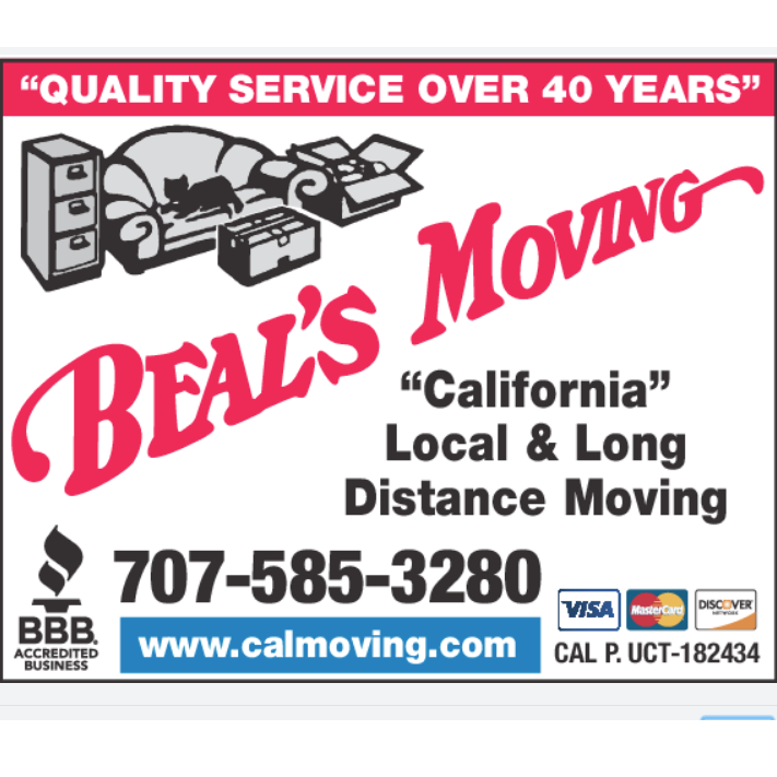 Beal's Moving - Santa Rosa, CA - Movers